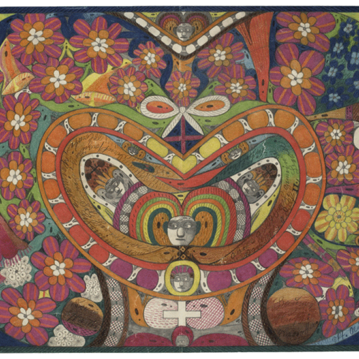 Couronne d'épines de Rosalie en forme de coeur